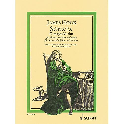 Schott Sonata in G Major Schott Series Softcover  by James Hook Arranged by Walter Bergmann-thumbnail