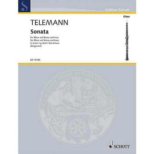 Schott Sonata in G Min (Oboe with Piano Accompaniment) Schott Series-thumbnail