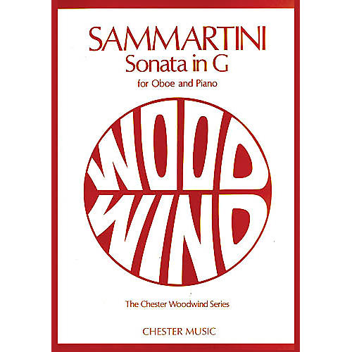 Chester Music Sonata in G (for Oboe and Piano) Music Sales America Series