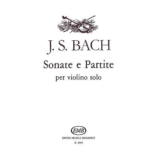 Editio Musica Budapest Sonatas And Partitas Violin Bwv1001-1006 EMB Series