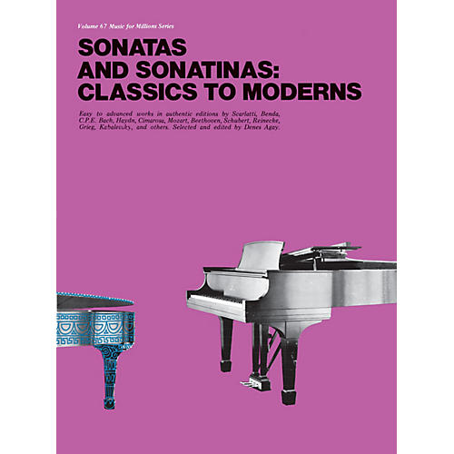 Music Sales Sonatas and Sonatinas: Classics to Moderns Music Sales America Series Softcover-thumbnail