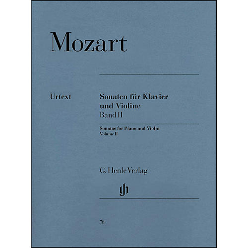 G. Henle Verlag Sonatas for Piano And Violin Volume II By Mozart
