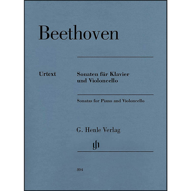 G. Henle VerlagSonatas for Piano And Violoncello By Beethoven