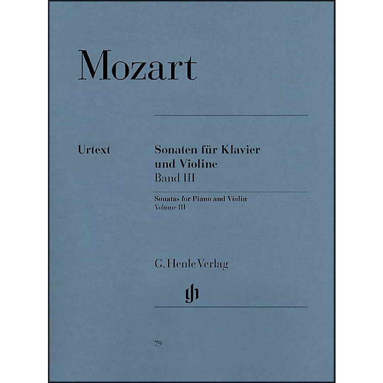 G. Henle Verlag Sonatas for Piano and Violin - Volume III By Mozart