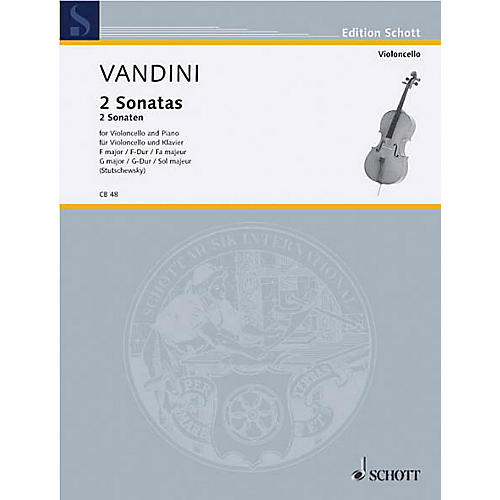 Schott Sonatas in F Major and G Major (Cello and Piano) Schott Series-thumbnail