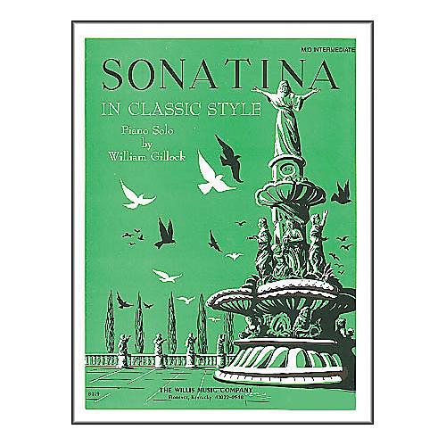 Willis Music Sonatina In Classic Style - Mid-Intermediate Piano Solo by William Gillock-thumbnail