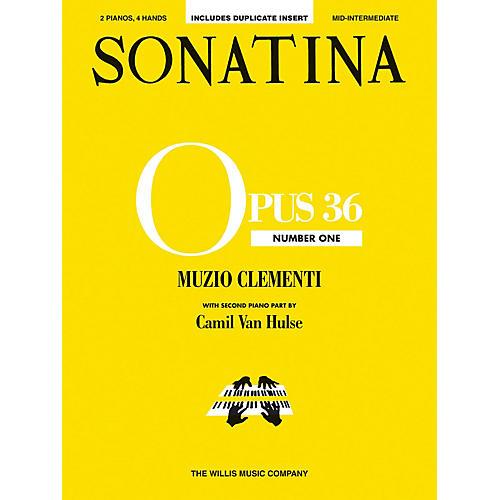 Willis Music Sonatina Op. 36, No. 1 (2 Pianos, 4 Hands/Mid-Inter Level) Willis Series by Muzio Clementi-thumbnail