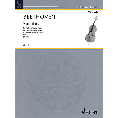 Schott Sonatina for Cello and Piano, WoO 44a String Series Softcover-thumbnail