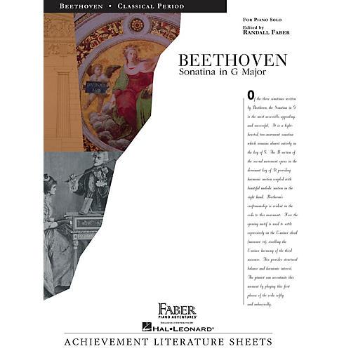 Faber Piano Adventures Sonatina in G Major Faber Piano Adventures® Series Composed by Ludwig van Beethoven