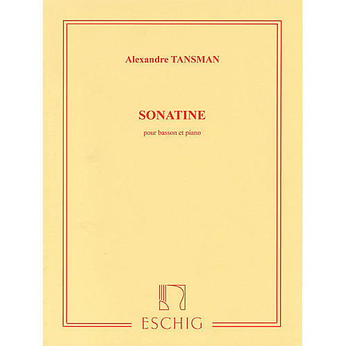 Max Eschig Sonatine Editions Durand Series Composed by Alexandre Tansman