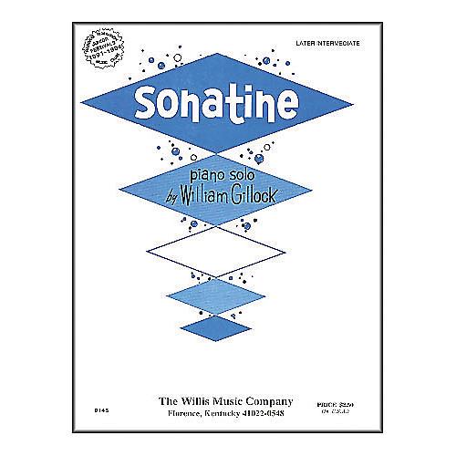 Willis Music Sonatine Mid Intermediate Piano Solo by William Gillock