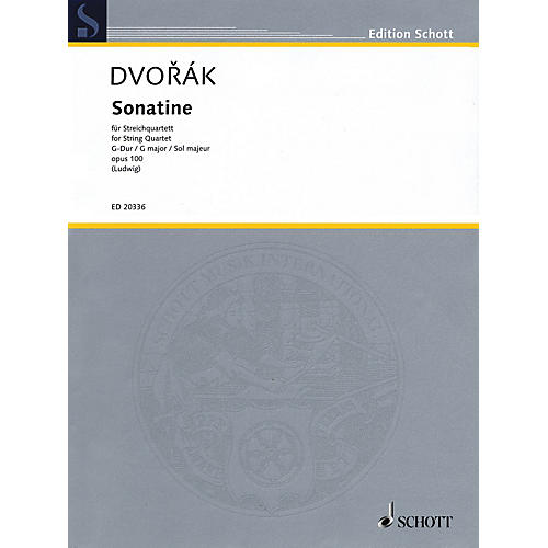 Schott Music Sonatine (String Quartet Score and Parts) String Series Composed by Antonín Dvorák-thumbnail