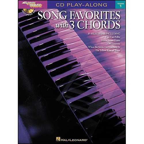 Hal Leonard Song Favorites with 3 Chords Volume 1 Book/CD CD Play-Along E-Z Play Today-thumbnail