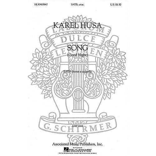 Associated Song (Good Night) (SATB (divisi) a cappella) SATB DV A Cappella composed by Karel Husa-thumbnail