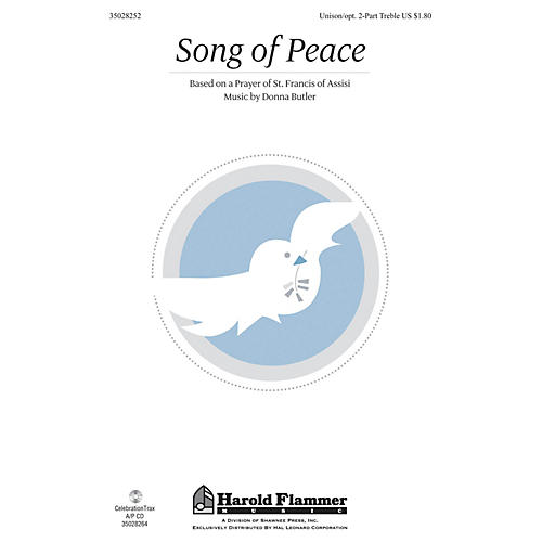 Shawnee Press Song of Peace Unison/2-Part Treble composed by Donna Butler-thumbnail