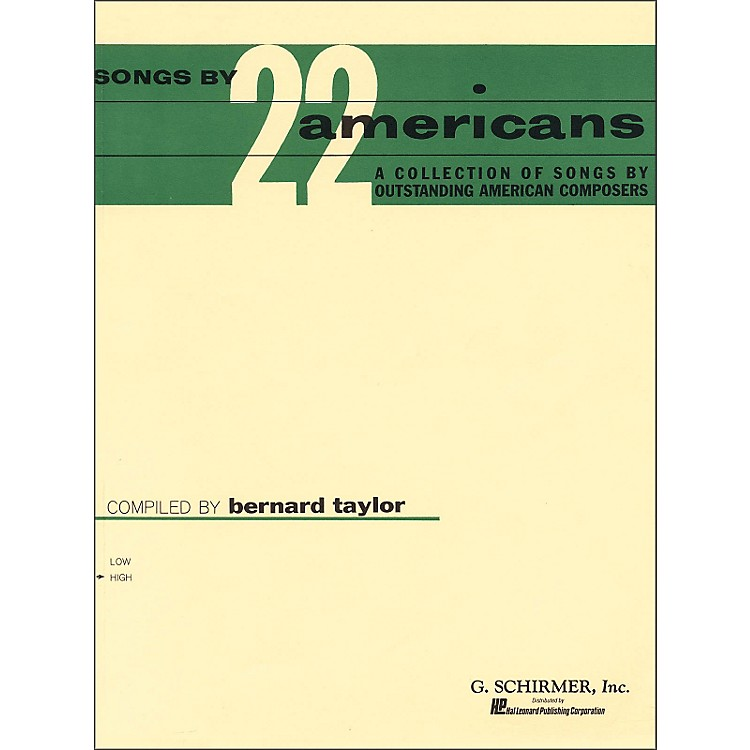 G. Schirmer Songs By 22 Americans for High Voice