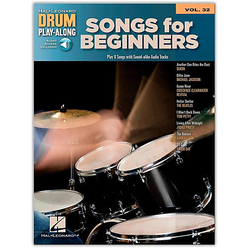 Hal Leonard Songs For Beginners - Drum Play-Along Volume 32 Book/CD