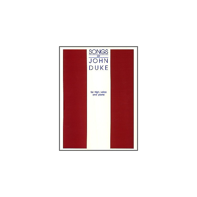 G. SchirmerSongs Of John Duke for High Voice