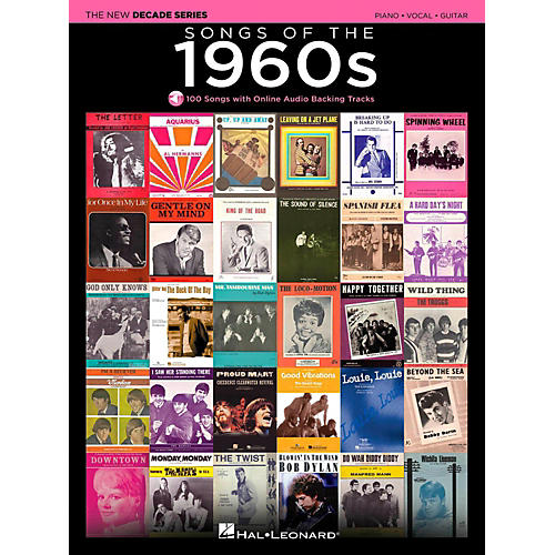 Hal Leonard Songs Of The 1960's - The New Decade Series with Optional Online Play-Along Backing Tracks-thumbnail