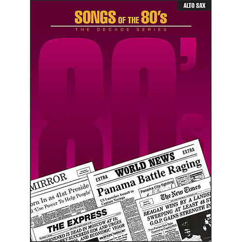 Hal Leonard Songs Of The 1980's for Alto Sax
