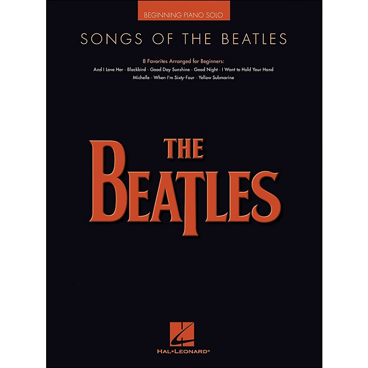 Hal Leonard Songs Of The Beatles Beginning Piano Solo