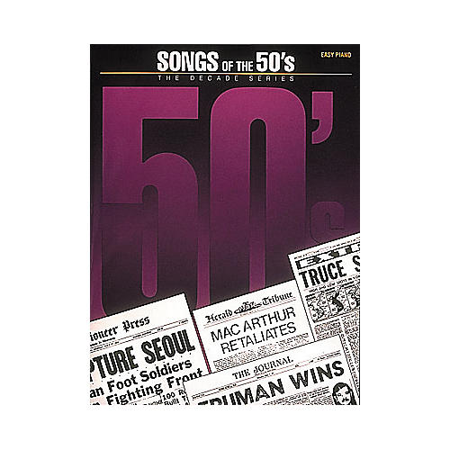 Hal Leonard Songs Of The Fifties 50's Decade Series For Easy Piano