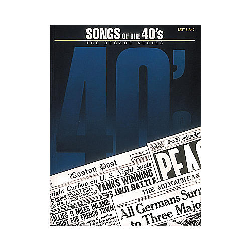 Hal Leonard Songs Of The Forties 40's Decade Series For Easy Piano