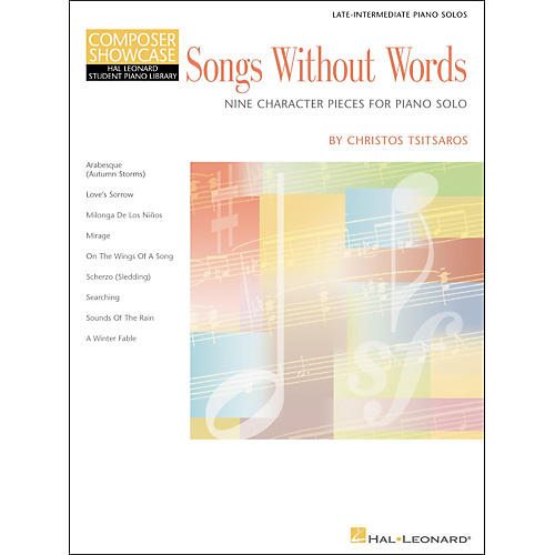 Hal Leonard Songs Without Words Late Intermediate Piano Solos composer Showcase Hal Leonard Student Piano Library by Chris Tsitsaros-thumbnail