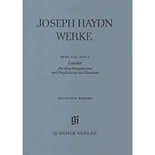 G. Henle Verlag Songs for one voice with accompaniment of a Piano Henle Edition Series Softcover