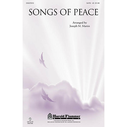 Shawnee Press Songs of Peace SATB arranged by Joseph M. Martin-thumbnail