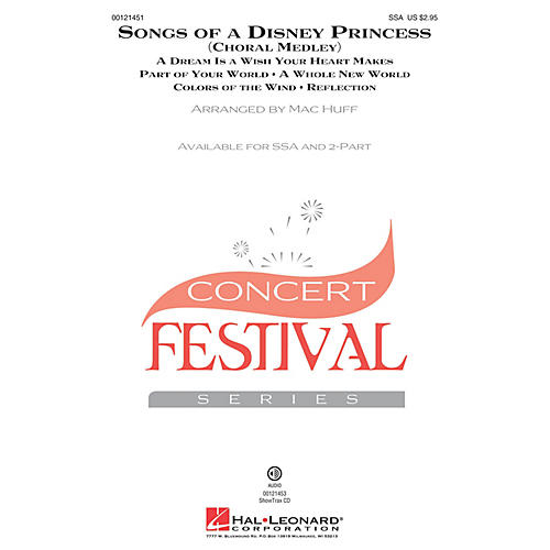Hal Leonard Songs of a Disney Princess (Choral Medley) SSA arranged by Mac Huff-thumbnail