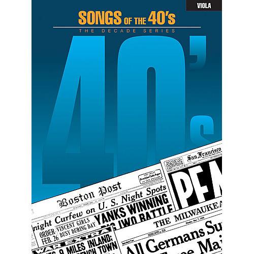Hal Leonard Songs of the '40s (Viola) Instrumental Folio Series-thumbnail