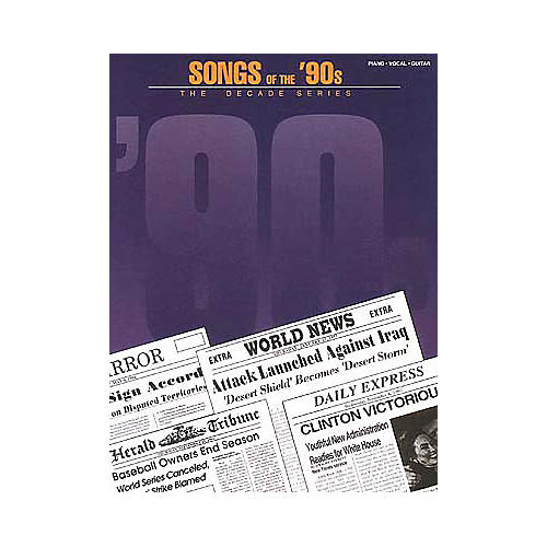 Hal Leonard Songs of the '90s Piano, Vocal, Guitar Songbook-thumbnail