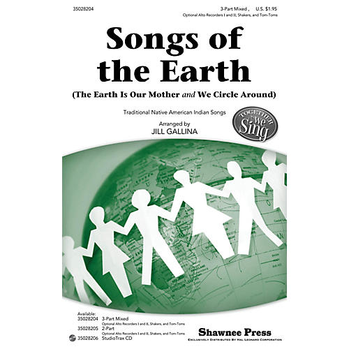 Shawnee Press Songs of the Earth (Together We Sing Series) 3-PART MIXED arranged by Jill Gallina-thumbnail