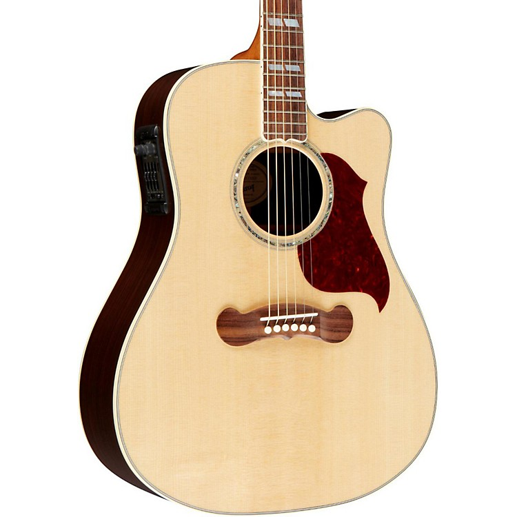 Gibson Songwriter Deluxe Studio Acoustic/Electric Cutaway Guitar Natural Gold Hardware