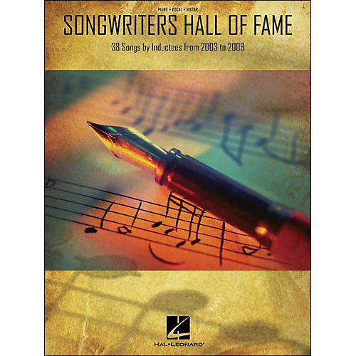 Hal Leonard Songwriters Hall Of Fame 2003-2009 arranged for piano, vocal, and guitar (P/V/G)