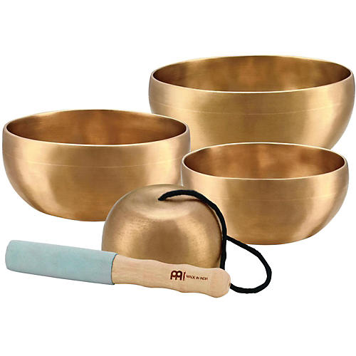 Meinl Sonic Energy 4-piece Universal Singing Bowl Set with Resonant Mallet-thumbnail