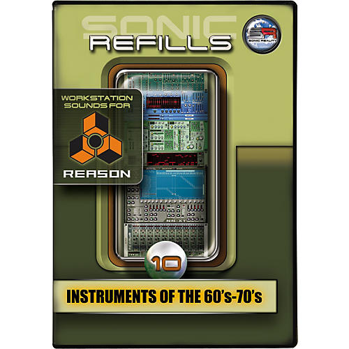 Sonic Reality Sonic Refill for Reason Volume 10 - Instruments of the '60s - '70s