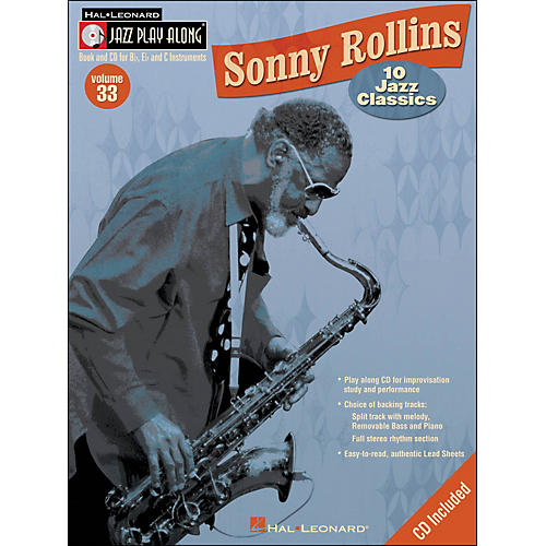 Hal Leonard Sonny Rollins Vol 33 Book/CD 10 Jazz Classics Jazz Play Along