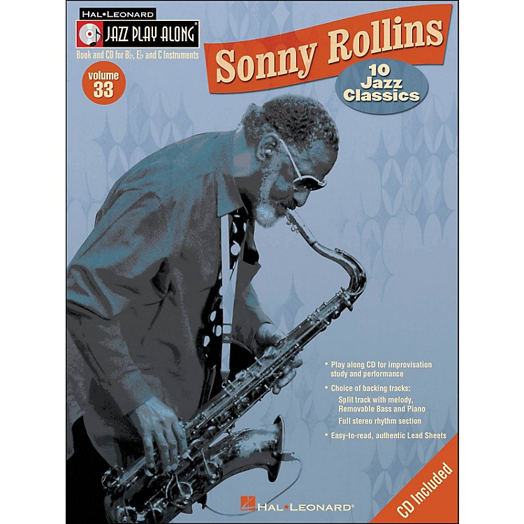 Hal Leonard Sonny Rollins Vol 33 Book/CD 10 Jazz Classics Jazz Play Along