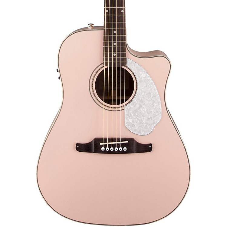 Fender Sonoran SCE Acoustic-Electric Guitar Shell Pink