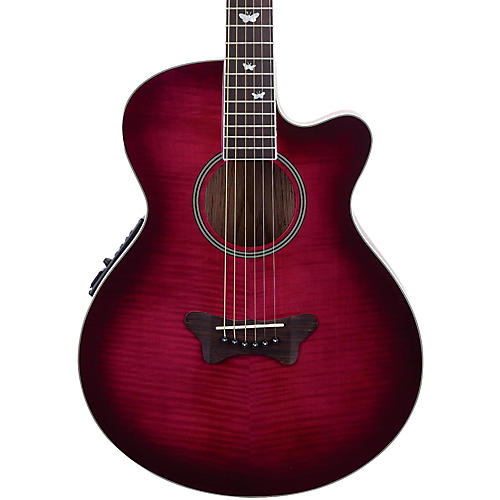 Daisy Rock Sophomore Butterfly Cutaway Acoustic-Electric Guitar Scarlet Flight