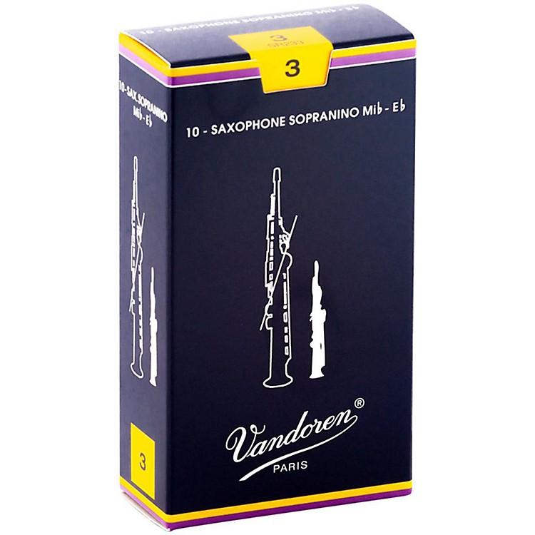 VandorenSopranino Saxophone ReedsStrength 3, Box of 10