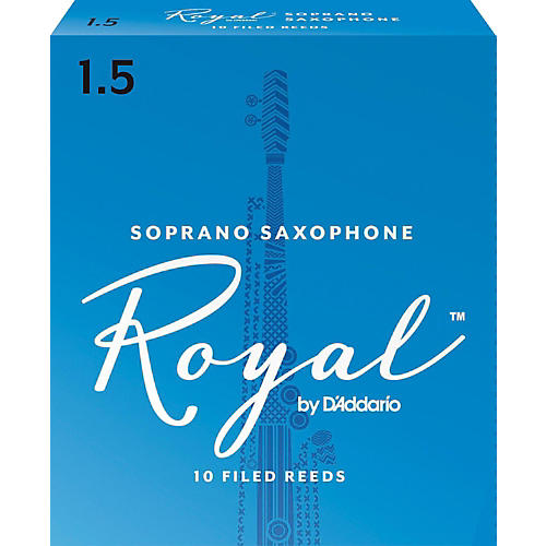 Rico Royal Soprano Saxophone Reeds, Box of 10 Strength 1.5