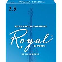 Rico Royal Soprano Saxophone Reeds, Box of 10 Strength 2.5