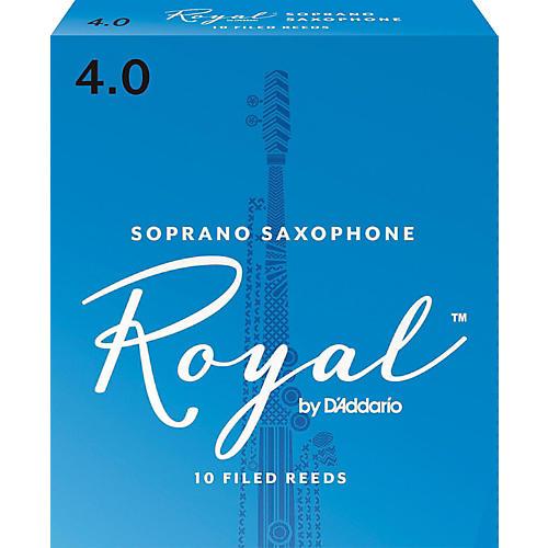 Rico Royal Soprano Saxophone Reeds, Box of 10 Strength 4