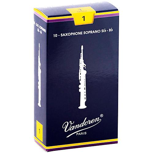 Vandoren Soprano Saxophone Reeds Strength 1 Box of 10