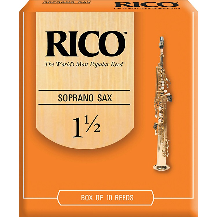 Rico Soprano Saxophone Reeds Strength 1.5 Box of 10