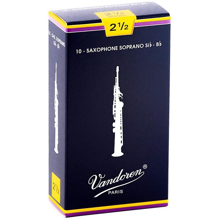 VandorenSoprano Saxophone ReedsStrength 2.5Box of 10