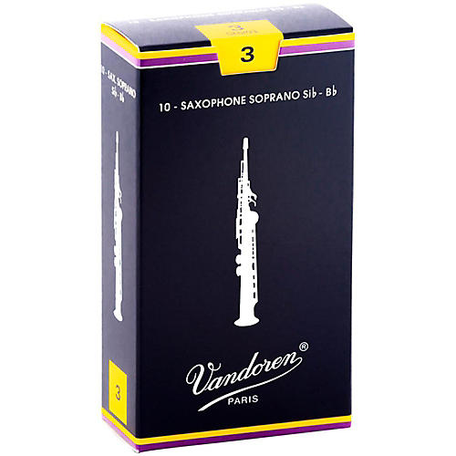 Vandoren Soprano Saxophone Reeds Strength 3 Box of 10